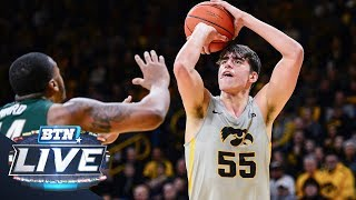 Mike hall talks with iowa's luka garza about the upset win over michigan, his favorite players ,his occasional fancy footwear and more.subscribe to big ten n...