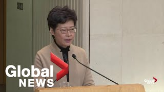 Hong Kong leader hopes for peaceful resolution amid university standoff