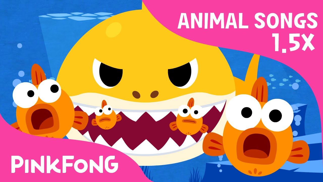 Faster Version Of Baby Shark Faster And Faster Animal Songs Pinkfong Songs For Children Youtube