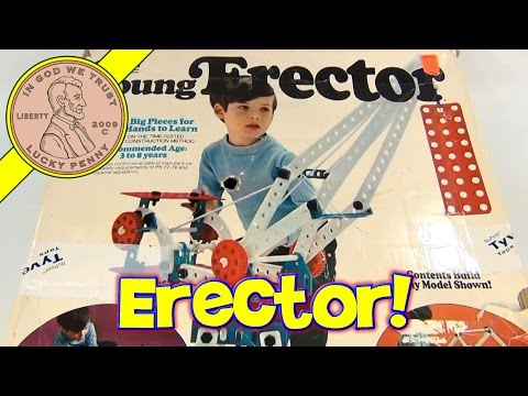 Vintage 1975 Young Erector Building Set by Gabriel Toys