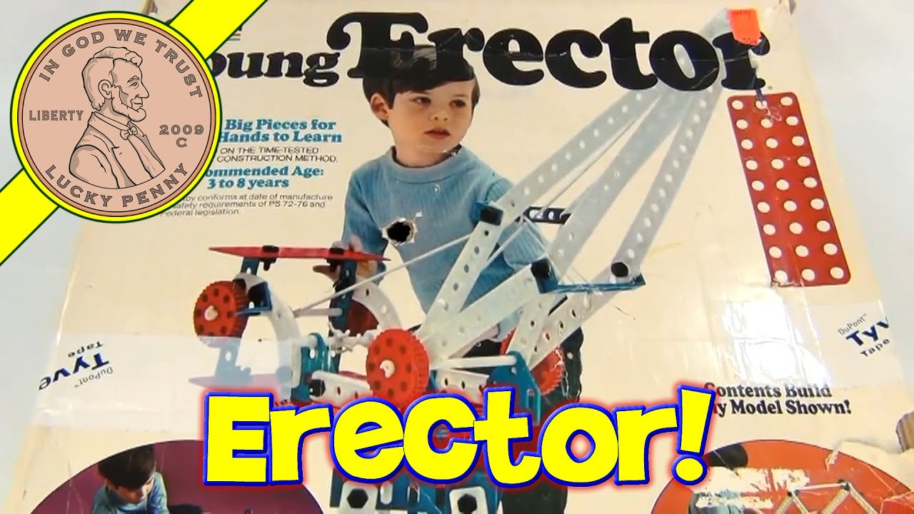 Vintage 1975 Young Erector Building Set by Gabriel Toys - YouTube