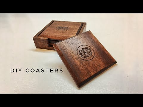 Hand Carved Wooden Coasters