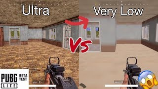 [PUBG LITE PC] ULTRA vs VERY LOW GRAPHICS 😱►(Gameplay)