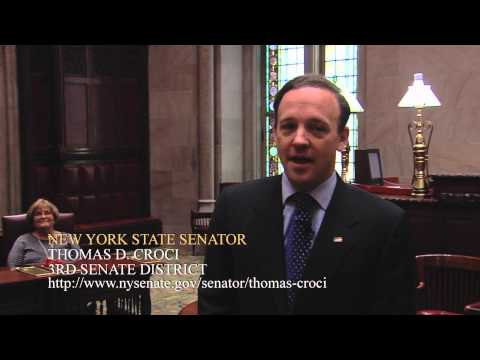 New York State Senator Thomas Croci takes the Oath of Office and Speaks on the Floor of the Senate