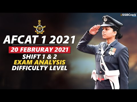 AFCAT 1 2021 Exam Analysis 20 February 2021 - Shift 1 & 2