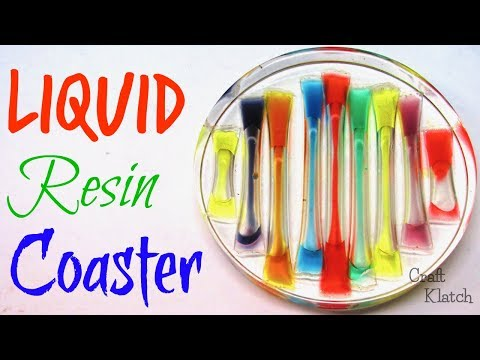 Liquid Rainbow Resin Coaster DIY | Another Coaster Friday | Craft Klatch