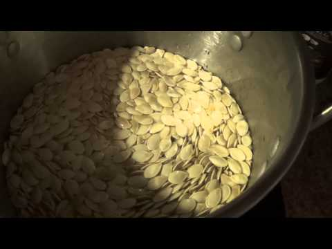 How i make salted pumpkin seeds for snacks.