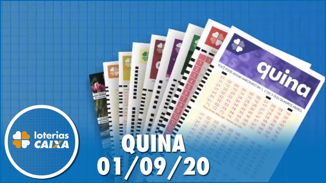 Resultado da Quina - Concurso nº 5355 - 01/09/2020