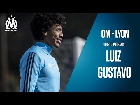 OM - Lyon la conférence de Luiz Gustavo......