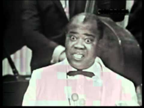 Louis Armstrong sings