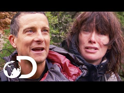 Lena Headey Jumps Off A Cliff Into Freezing Water  Running Wild With Bear Grylls