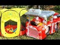 Гонщик и Маршал Щенячий патруль Пожарная машина Видео для детей Marshall Paw Patrol Fire Truck Tent