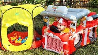Видео для детей про машинки Пожарная машина Щенячий патруль Распаковка Unboxing Fire Truck