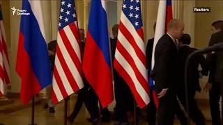 Неудачный протест. Акция на пресс-конференции Трампа и Путина