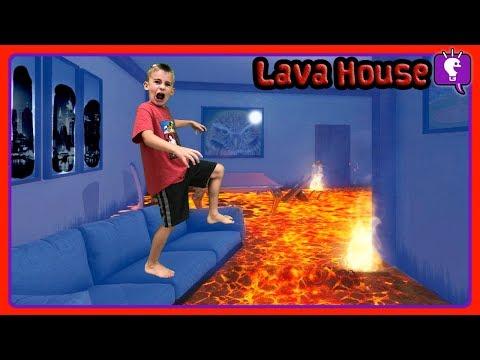 HOUSE IS LAVA In the Dark Challenge!! by HobbyKidsTV