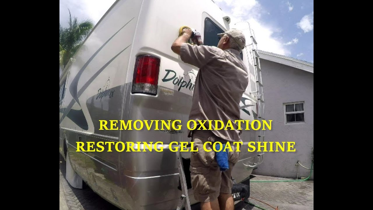 Remove Oxidation Restore Gel Coat Shine Fiberglass Rv Or Boat Trailer Light Wiring Harness 4 Flat 35ft To Redo Lights Using Meguiars Compound Polish Kit