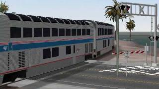 MSTS A 100 Car Amtrak Train