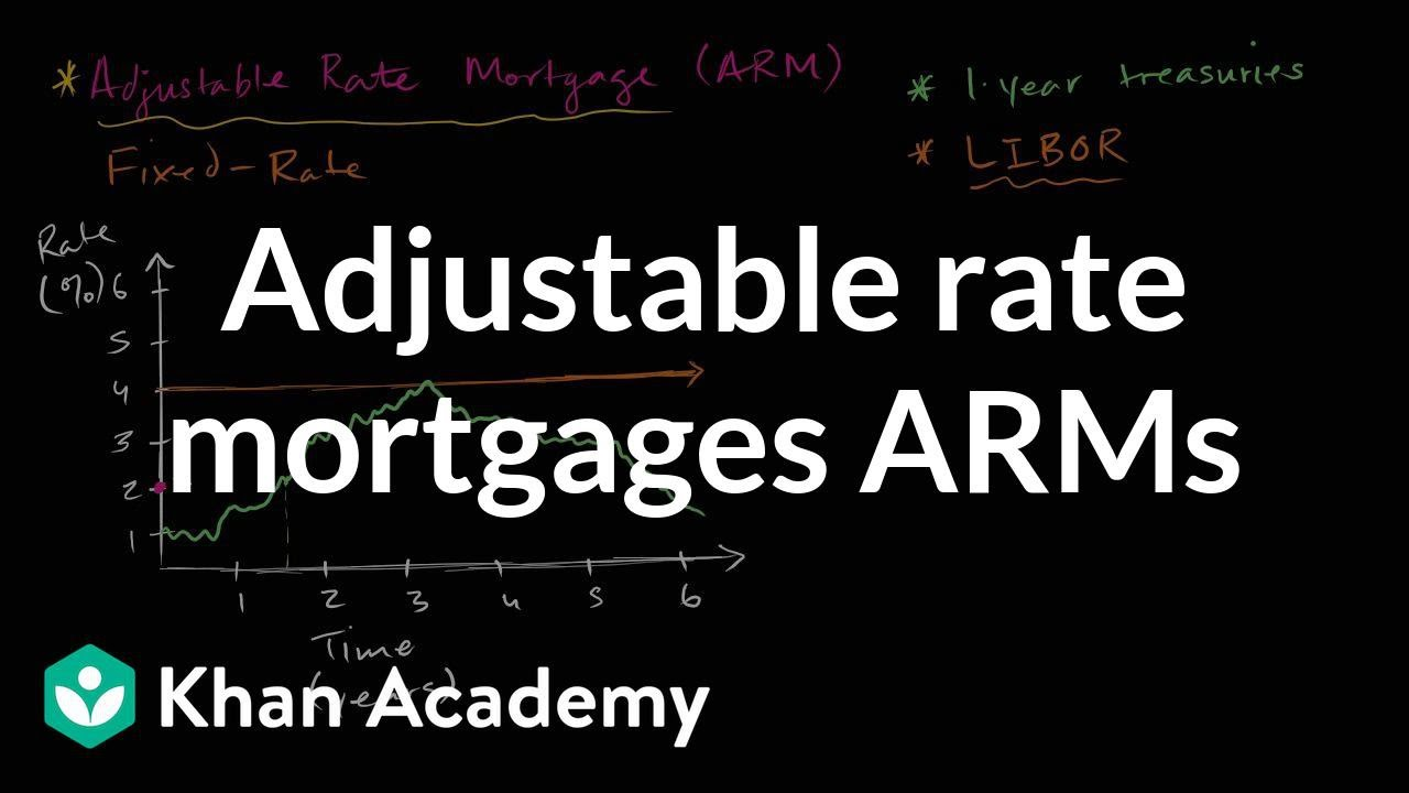 Adjustable rate mortgages ARMs | Housing | Finance & Capital Markets | Khan Academy - YouTube