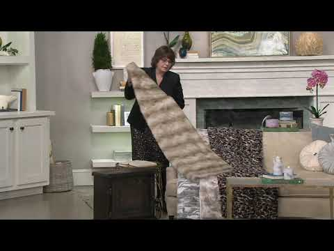 Dennis Basso 60 x 70 Faux Fur Oversized Throw 25th Anniversary on QVC a540267dc133a