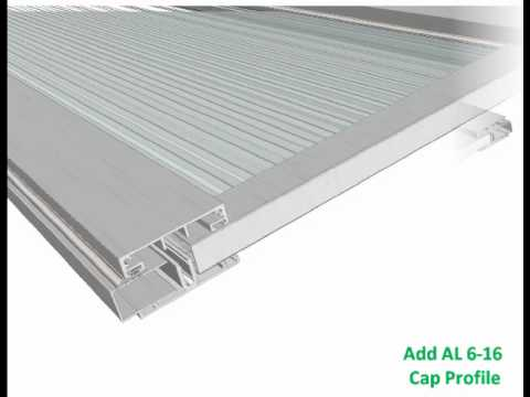 Polycarbonate Multiwall Sheets Al Glazing System Short Version Youtube