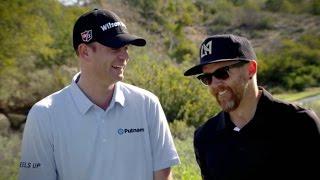 Linkin Park's Dave Farrell plays golf with Brendan Steele