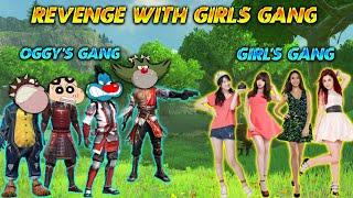 Oggy's Gang Revenge With Girl's Gang    REVENGE TIME   Free Fire    Oggy Minecraft