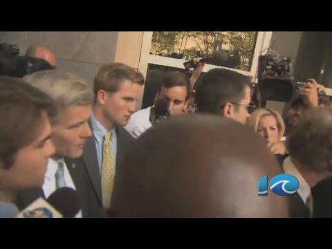 WAVY's Andy Fox interviews Bob McDonnell outside courthouse