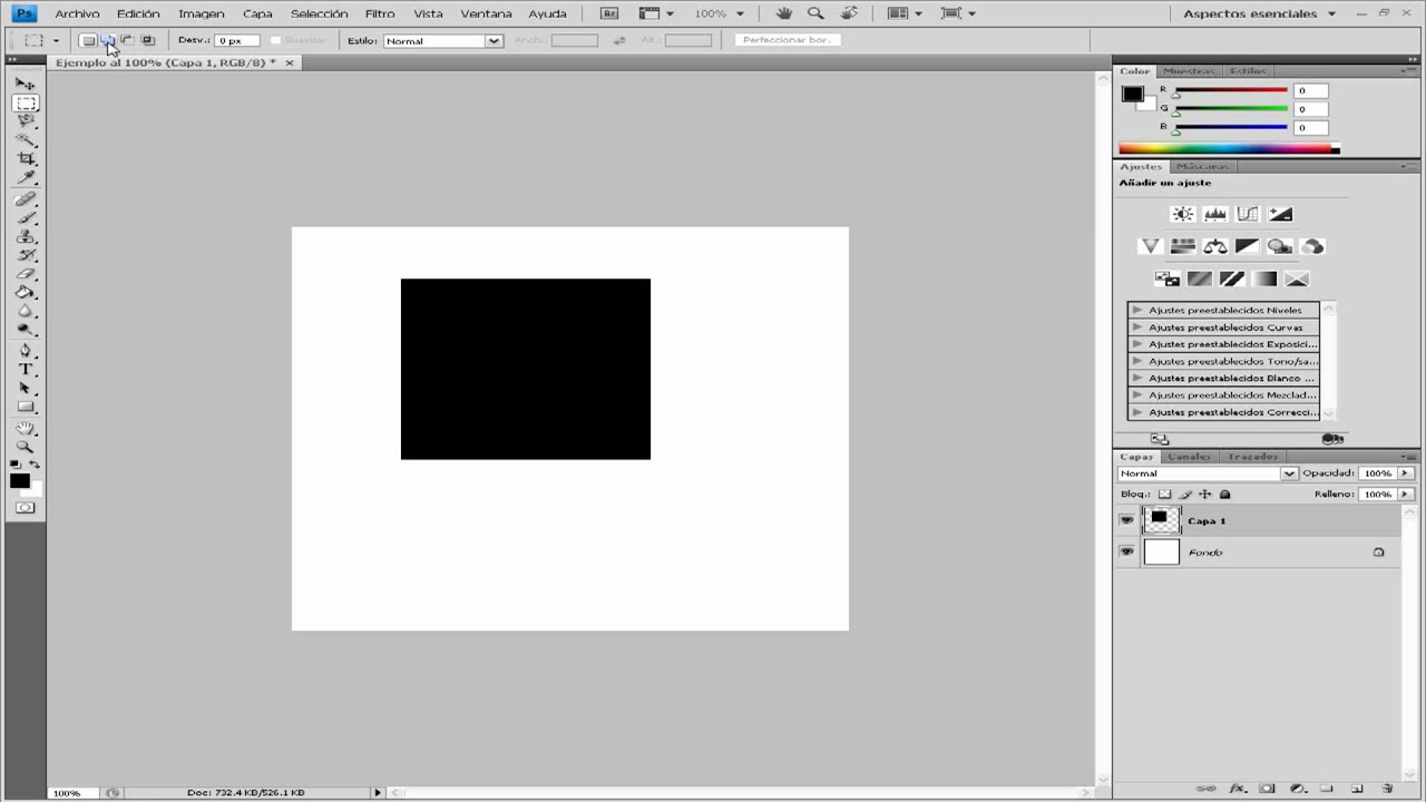 04.- Curso Básico Photoshop - Herramienta Marco de Selección - YouTube