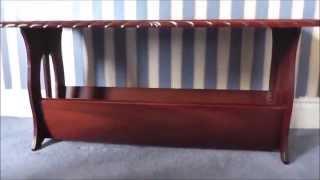 Mahogany coffee table magazine rack