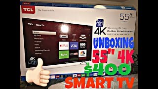 Unboxing  The TCL 55
