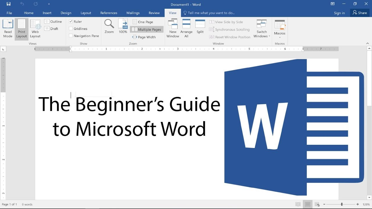 beginner s guide to microsoft word 2017 tutorial youtube