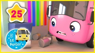 Buster Changes Color Song! | + Many More  ABCs and 123s | GoBuster Official | Nursery Rhymes