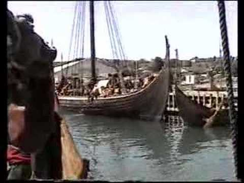 Viking ships in Hafrsfjord, Norway - Vikingskip i Hafrsfjord