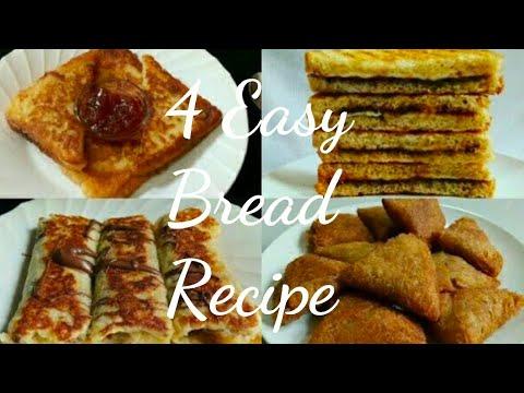 4 Easy & Quick Bread Snacks Recipes | Bread Recipe |