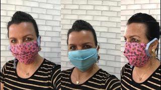 Como fazer Máscara caseira de tecido sem elástico