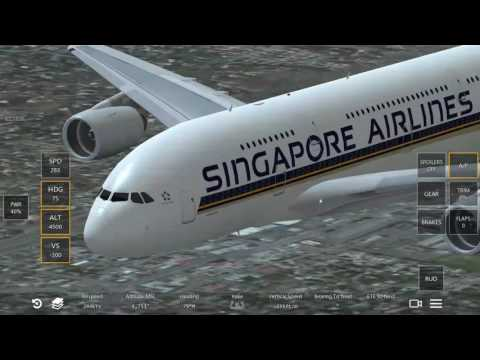 Infinite flight Singapore Airlines A380 flying display
