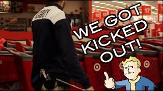 EPIC BOTTLE FLIPPING IN TARGET*KICKED OUT*