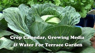 Crop Calendar, Growing Media & Water for Terrace Garden