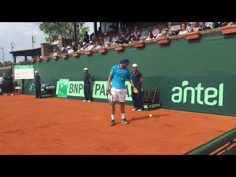 Pablo Cuevas - Ricardo Rodríguez  - Ultimo game. Copa Davis 6-2 6-1