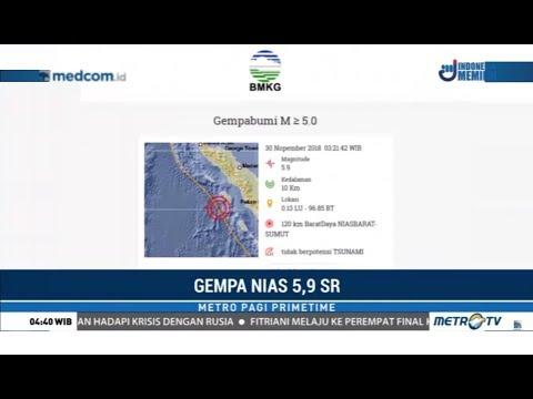 Jumat Pagi Gempa 5,9 SR Guncang Nias
