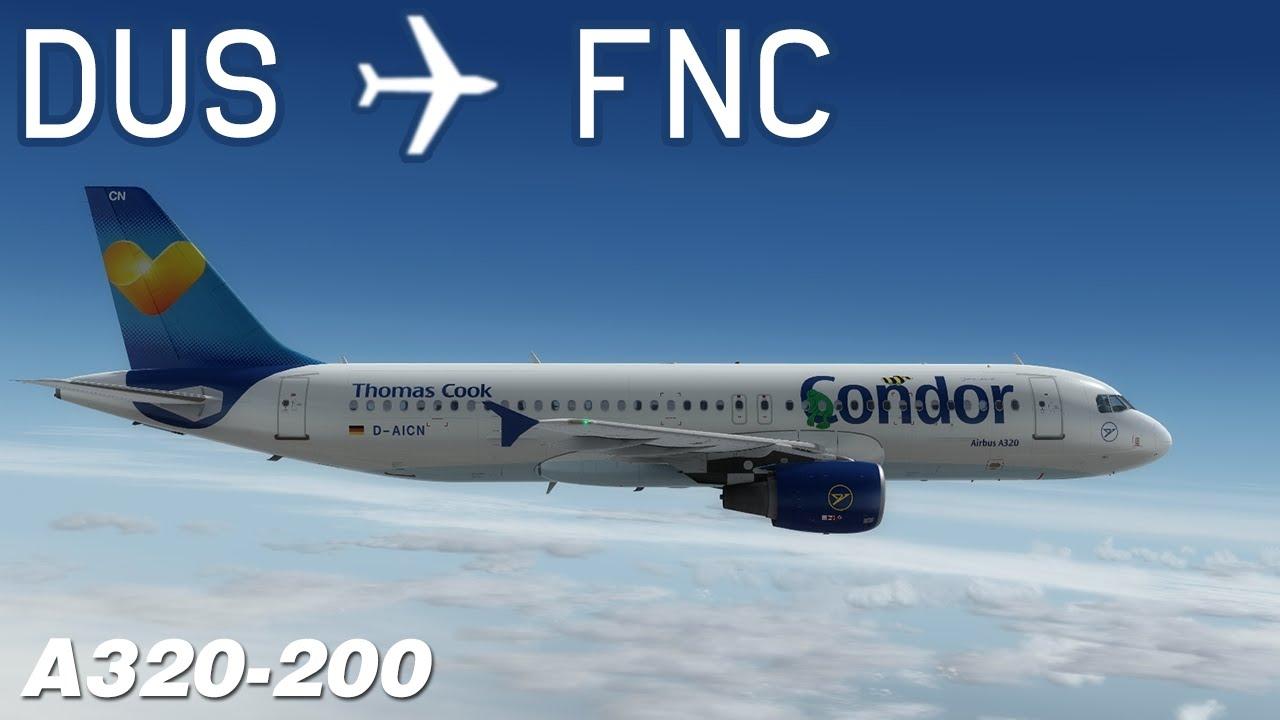 [P3D v3] Düsseldorf to Madeira | CFG1414 | Condor | Aerosoft Airbus A320 |  IVAO by Enceladus 737