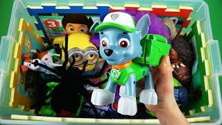 Learn Characters & Colors, Insects & Vehicles for Children: Paw Patrol, Peppa, PJ Masks Toys in Box