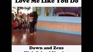 Dawn and zeus (highschool version)