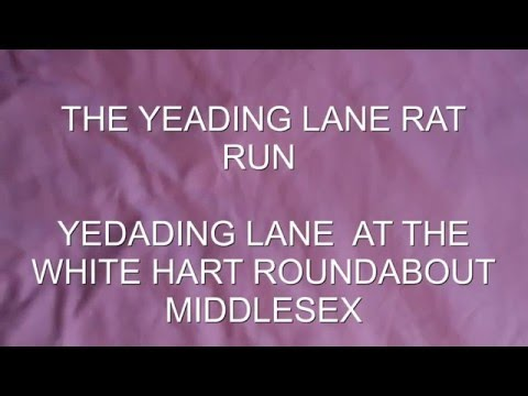 RAT RUN YEADING  LANE  AT THE WHITE HART ROUNDABOUT MIDDLESEX