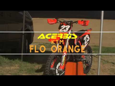acerbis flo orange ktm plastics - youtube
