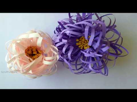 Quick  Paper Flower  For Home Decor | Easy Paper Crafts Video | DIY Paper Flower Decoration