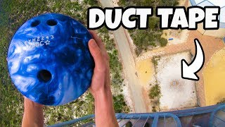 Can DUCT TAPE Stop a BOWLING BALL from 45m?