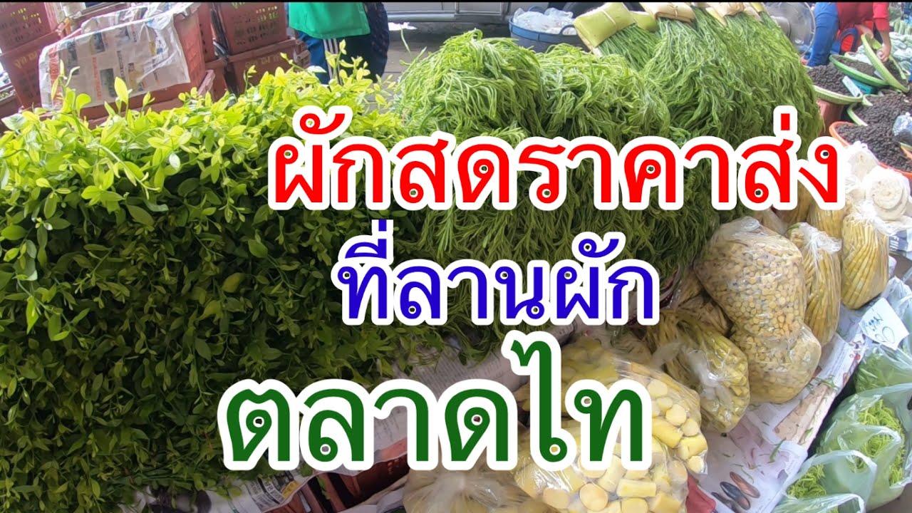 #ตลาดไท#ลานผักสดตลาดไท#ราคาผักสดที่ตลาดผัก