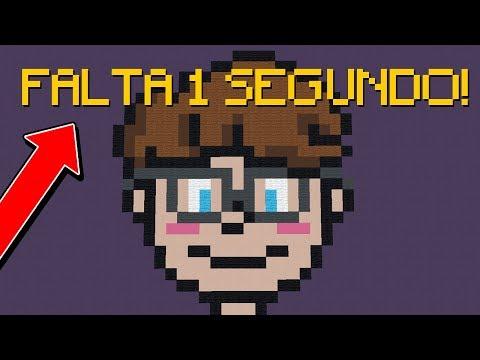 Minecraft: TERMINEI A PIXEL ART NO ÚLTIMO SEGUNDO! (BUILD BATTLE)
