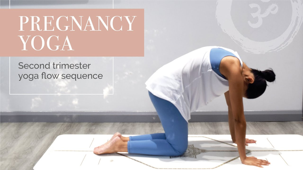 Pregnancy Yoga | Second Trimester Yoga Flow Sequence  | Yoga with Jaina